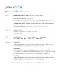 Resume Templates For Mac Free
