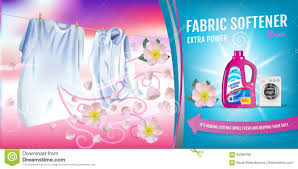 Softener Design Rose Fragrance Fabric Softener Gel Ads Vector Realistic