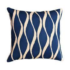 contemporary waves midnight blue decorative pillow cover handmade