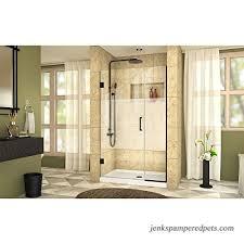 dreamline unidoor plus 38 1 2 39 in w x 72 in h frameless hinged shower door