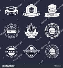 fast food restaurant logos crown. Vector Vintage Fast Food Logo Set Retro Eating Signs Collection Burger Hamburger With Restaurant Logos Crown
