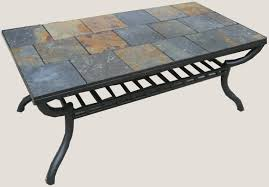 Iron And Stone Coffee Table Stone Tile Coffee Table Coffee Addicts
