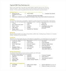 Family Holiday Packing List Template Checklist Printable
