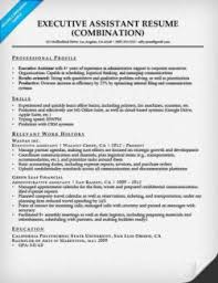 executive assistant combination resume sample