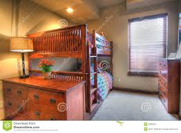 living room with bed: kids bedroom bunk bed royalty free stock photography image