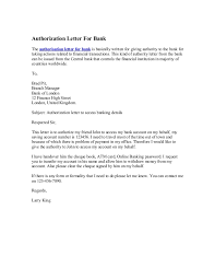 10 Elegant Authorize Letter To Bank Todd Cerney