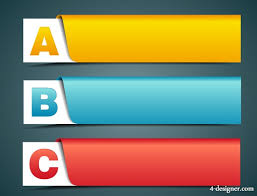 banner design template 4 designer colorful alphabet banner template vector material