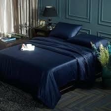 solid color navy blue bedding set on duvet cover bed sheet pillowcase linen king queen size navy blue bedding