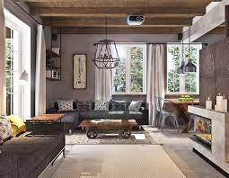 Industrial Living Room Furniture Concrete Finish Studio Apartments Ideas Inspiration