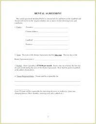 Basic Rental Agreement Template Simple Tenancy Agreement Template