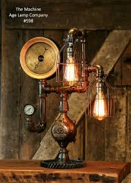 steampunk lighting. plain lighting steampunk industrial steam gauge gear desk lamp 598 sold in lighting