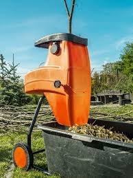 garden mulcher. Delighful Mulcher Electric Shredder With Wood Chips Used For Garden Mulching Intended Garden Mulcher M
