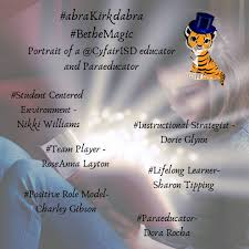 """Kirk Elementary على تويتر: """"Congratulations to these educators who have  shown us how to #BetheMagic for our tigers. #AbraKirkdabra #KirkROAR  #CFISDSpirit… https://t.co/gAyncHyp2C"""""""