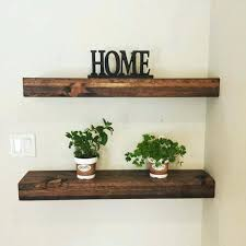 Ivory Floating Shelves Extraordinary Dark Brown Floating Shelves Rustic Reclaimed Wood Walnu On Ivory