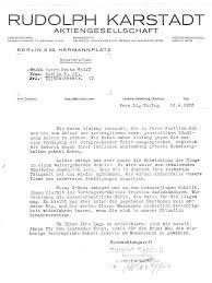 Firing Letter Karstadt Judenboykott 1933 Dismissal Letter Of Fritz Wolff