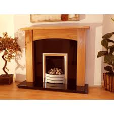 abbey 48 solid light oak fireplace surround