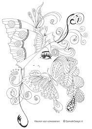 Adult Coloring Pages Butterflies Printable Free Coloring Books