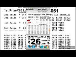 Ticket Chart Result Sikkim State Lottery Results Download Day Result Evening
