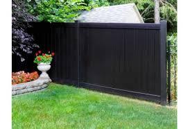 black vinyl privacy fence. Custom Color Fencing Black Vinyl Privacy Fence O