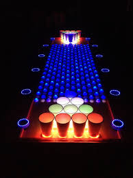 Led Coffee Table Diy Interactive Led Beer Pong Table Youtube
