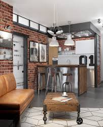 Designs by Style: Bachelor Living Room - Industrial Style Design