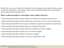 Top 10 convenience store cashier interview questions and answers