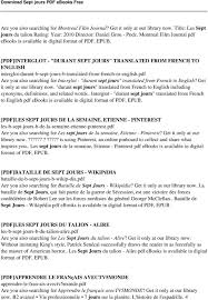 pdf interglot durant sept jours translated from french to english interglot