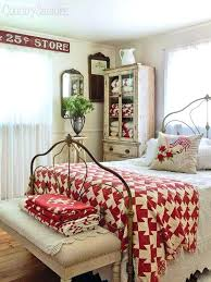 Rust Colored Quilt Cool Rust Colored Bedding 137 Rust Colored ... & ... Red And White Cottage Style Bedroom With Quilts And A Lovely Wrought  Iron Bed Rust Colored ... Adamdwight.com