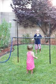 homemade outdoor games for kids. DIY Outdoor Games: Kids\u0027 Sprinkler Limbo Made From PVC Pipe Homemade Games For Kids 0