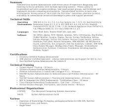 Network Administrator Sample Resume Resume System Network Administrator Sample Cv Samples Template Pdf 20