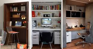 small apartment design ideas create a home office in a closet