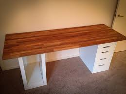 Counter Top Desks Ikea Numerr Counter Desk Desk Made From Oak Kitchen Count Flickr