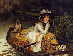 famous british painting young woman in a boat 1870