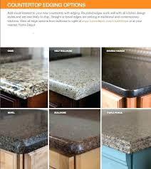 quartz countertop edges edge options home depot