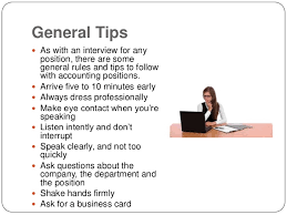 Top Interview Tips For Accounting Jobs