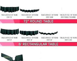 tablecloth size round sizes tablecloths beautiful