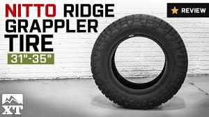 Nitto Ridge Grappler Size Chart