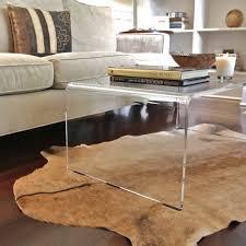 clear waterfall rectangular modern acrylic coffee tables designs