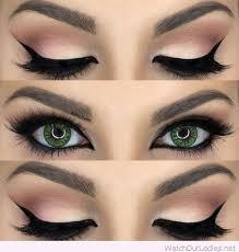 green eye and rose eye makeup