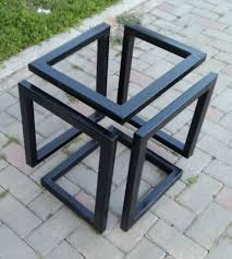 metal coffee table base square table