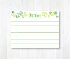 Index Card Word Template Index Card Template 6 Free Printable Word Pdf Psd Eps