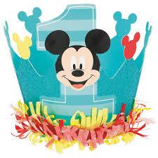 Mini 1st Birthday Mickey Mouse Crown ...