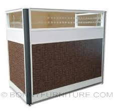 front office table. Hy4401 Office Table With Partition Front
