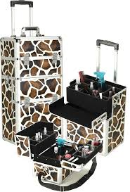stylish giraffe print makeup case from simply savvy collections