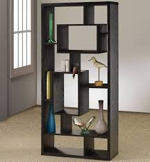 Living Room:Free Standing Black Wooden Living Room Shelf Unit On Covered  Flooring Ideas Free