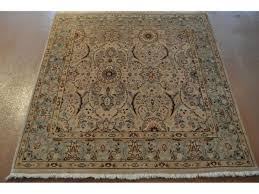 persian tabriz rug a small square oriental with beige