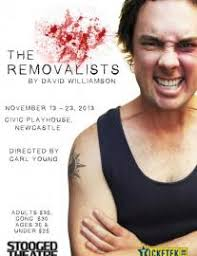 reading the removalists by david williamson stooged theatre poster 2013