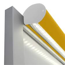 led frame mount trough lighting yellow