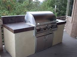 built in outdoor grill design covered kitchen ideas
