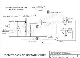circuit variable isolated ac voltage spans 0vac to 280vac circuit circuit isolated variable ac power source designed by dave johnson p e